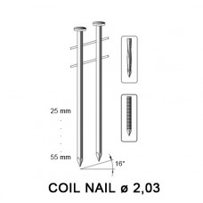 Coil nail 2,03 x 38 mm, ring galv G8