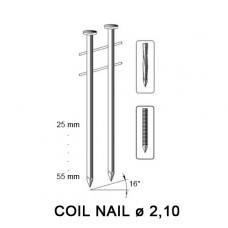 Coil nail 2,10 x 38 mm, ring SS