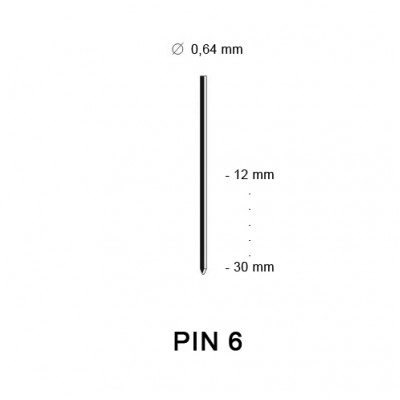 Pin 6 (23G), different lengths