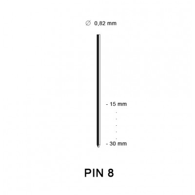Pin 8 (21G), different lengths
